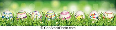 Natural Easter Eggs Spring Frohe Ostern Header