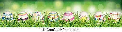 Natural Easter Eggs Spring Happy Easter Header