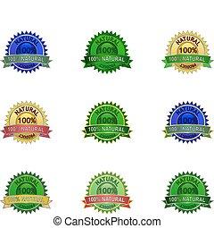 Natural eco labels set