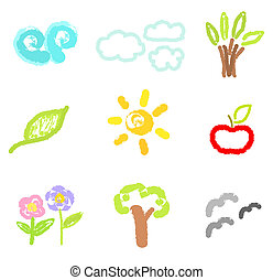 Natural elements drawings