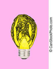 Natural energy. Modern design. Contemporary art collage.