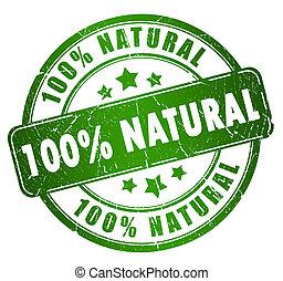 natural, estampilla