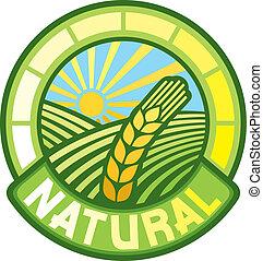 natural, etiqueta