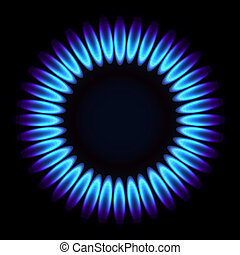 natural, flame., gás