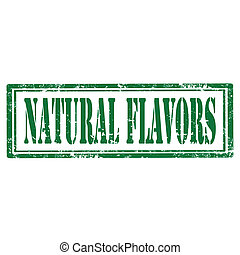 Grunge rubber stamp with text Natural Flavors, vector illustration