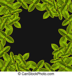 natural, fondo verde