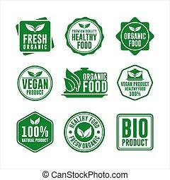 Natural Food and Organic Food Badge Collection