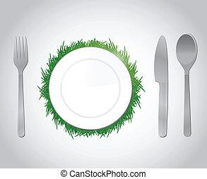 natural food concept illustration design