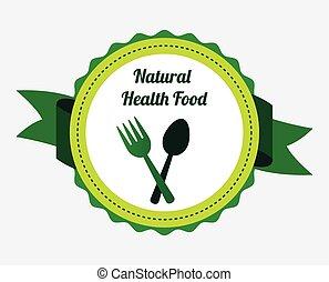 natural food design, vector illustration eps10 graphic