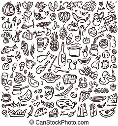 natural food - doodles set