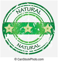 Natural food or product label