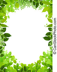 Natural frame and template - Natural design template. ...