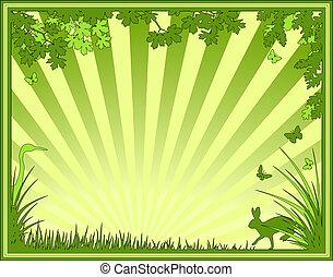 Natural frame - Illustration of a natural frame