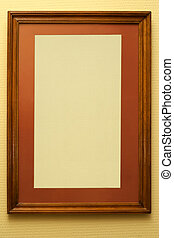 Natural frame in an interior of a living room pasted over by...