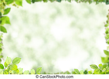 Natural frame - natural green frame, isolated
