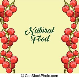 Natural fruits frame