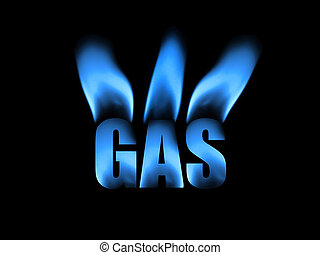 Abstract representing natural gas using blue flames for composition.