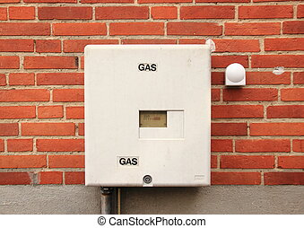 Natural Gas installation on house wall