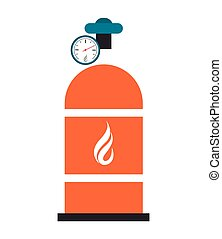 natural gas tank icon - flat design natural gas tank icon...