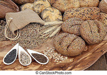 Natural Goodness - Seeded bread roll selection with wheat...