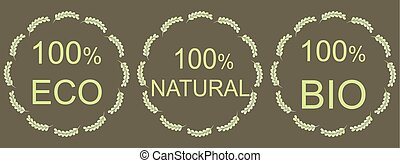natural green labels, for your design