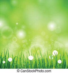 Natural Green Vector Background