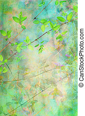 natural, grunge, hojas, plano de fondo, artístico, hermoso