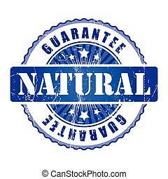 Natural  Guarantee Stamp.