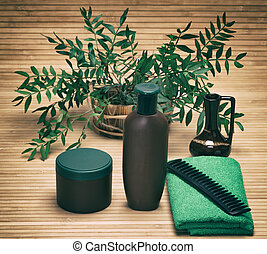 Natural hair care cosmetic products