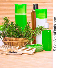 Natural hair care cosmetics and accessories