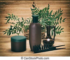 Natural hair care cosmetics