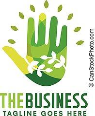 natural hand health green logo