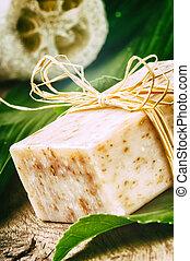 Natural handmade soap bar
