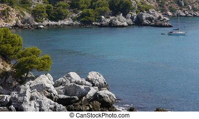 natural harbor in the rocks