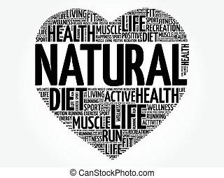 NATURAL heart word cloud