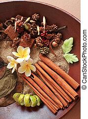 natural, herbario, balneario, ingrediente