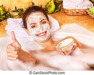 Natural homemade facial masks .