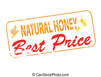 Natural honey best price - Rubber stamp with text natural...