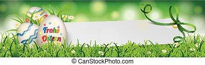 natural, huevo de pascua, papel, bandera, verde, cinta,...