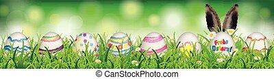natural, huevos de pascua, ostern, orejas de conejo,...