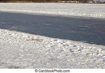 Natural ice skating track
