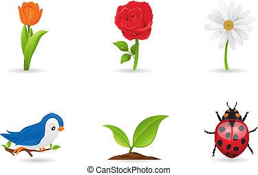 Natural icons set