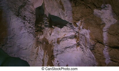 Natural Image - Inside, the deep and ancient caves. Motion...
