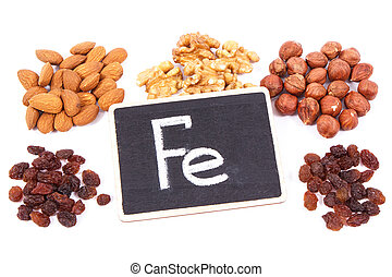 Natural ingredients as source iron, vitamins, minerals and...