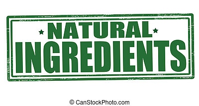 Natural ingredients - Stamp with text natural ingredients...