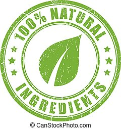 Natural ingredients rubber stamp
