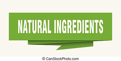 natural ingredients sign. natural ingredients paper origami...