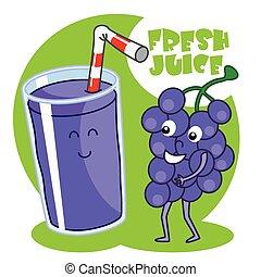 natural, jugo de uva