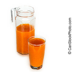 natural juice in glasswares