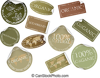 Natural Labels - Set of natual labels. Available in jpeg and...